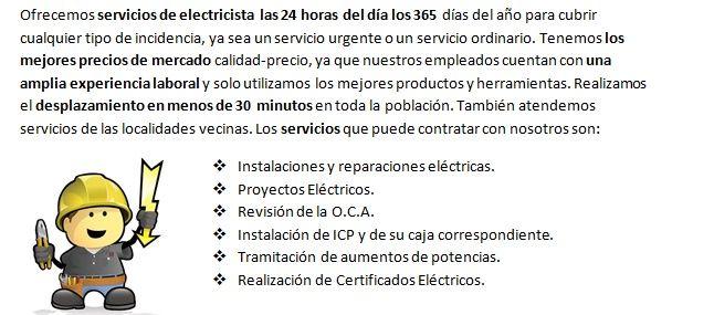 Equipo de Electricistas Villajoyosa 24h